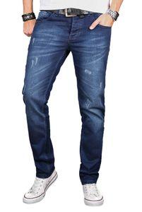 A. Salvarini Herren Jeans Blau AS051 W34 L34 - W34/L34