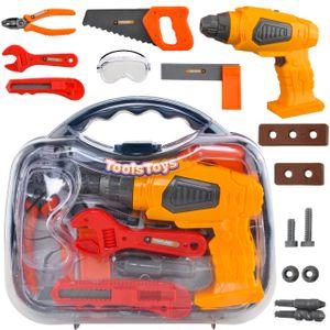 MALATEC Werkzeugkoffer Kinder 13-TLG Spielzeug Rollenspiele Pädagogisches Lernen 8237