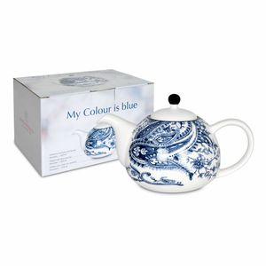 Waechtersbach My Colour Is Blue! Beautiful Kanne mit Deckel und Sieb, Teekanne, Kaffeekanne, Keramik, 850 ml, 41 5 966 1160