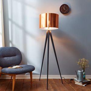 Stehleuchte Stehlampe Standleuchte LED Kupfer Schirm Versanora VN-L00005-EU