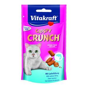 Vitakraft Katzensnack Crispy Crunch mit Lachs - 8 x 60g