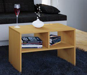 VCM Beistelltisch Couchtisch Wohnzimmertisch Kaffeetisch Nachttisch Tisch Nachto Buche
