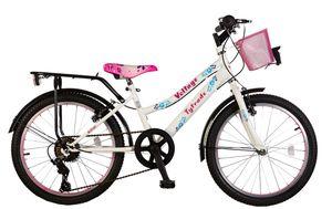 20 ZOLL Kinder Mädchen City Fahrrad Kinderfahrrad Mädchenfahrrad Cityrad Rad Bike 7 Gang Shimano Beleuchtung Voltage Lady White Weiss TY2021