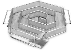 Kaltraucherzeuger Edelstahl für  Kaltrauch | Räucherschnecke Sparbrand Kaltrauchgenerator