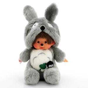 Totoro Monchichi Plüschtier 20cm Grau