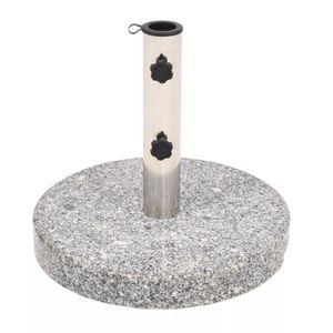 Sonnenschirmständer Schirmständer Schirmhalter   Sonnenschirm Standfestigkeit Granit Rund 22 kg   93601