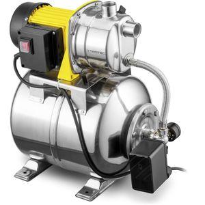 TROTEC Hauswasserwerk TGP 1025 ES ES in Edelstahlausführung Wasserpumpe 3.300 l/h Förderleistung 1.000 Watt Leistung 3 bar Förderdruck Wasserwerk Gartenpumpe Hauswasserpumpe Hauswasserautomat
