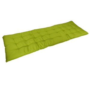 Auflage für Gartenbank 120x40x4cm Sitzauflage Polsterauflage Bankauflage, Farbe:grün
