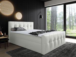 Mirjan24 Boxspringbett Malibu, Bett mit zwei Bettkästen, Stilvoll Doppelbett (Farbe: Soft 017, Größe: 120x200 cm)