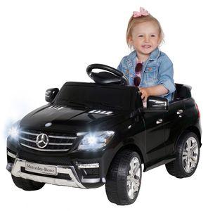 Kinder-Elektroauto Mercedes ML 350 Original Lizenz Auto 2x 25 Watt Motor (Schwarz)