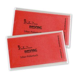 SilberDream je 15x16cm Reinigungstücher 2 Stück rot Imppac Poliertuch ZAP137R2