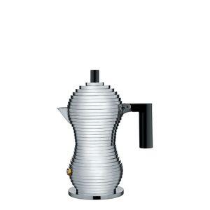 Alessi Pulcina Espresso-Kaffeemaschine Schwarz 1 Tasse