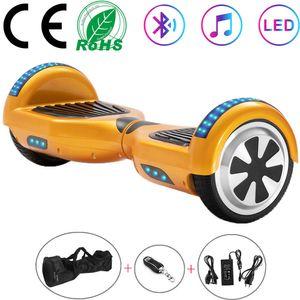 Hoverboard 6,5 Zoll Self-balancing Scooter Gold Elektroroller 2 Räder E-skateboard mit LED  Bluetooth-Lautsprecher