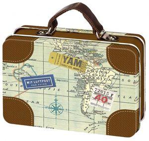 Moses Reise-Mini-Koffer 10,5 x 7,3 cm braun