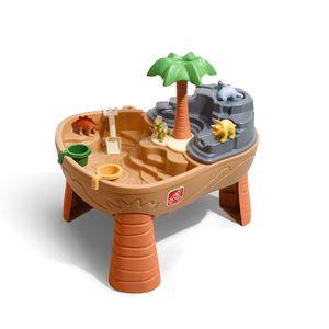 Step2 Dino Dig Sand & Wassertisch mit Dinosaurier & Jungle   Wasserspieltisch für Kinder mit 7-teiligem Zubehör Set   Wasserspielzeug / Sandtisch für den Garten