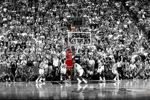 Michael Jordan Poster Last Shot 1998 Colorized