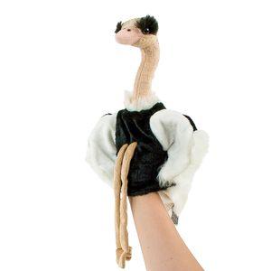 Strauß Handpuppe 35 cm Kuscheltier Vogel Plüschtier Teddys Rothenburg