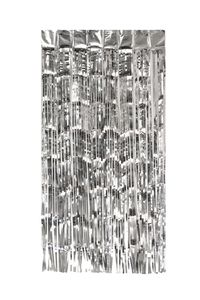Lametta Vorhang 50x100cm, Farbauswahl:silber