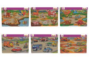Eichhorn 100005452 Steckpuzzle, 6-fach sortiert