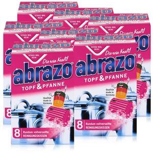 abrazo Topf & Pfanne Reinigungskissen - Die rosa Kraft (7er Pack)