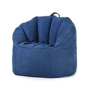 Neu No Filling YuppieLife Sitzsack Bean Bag Tragbar Sitzkissen Bodenkissen -Blau