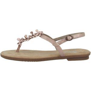 Rieker 64281 Schuhe Damen Sandalen Zehentrenner, Größe:38 EU, Farbe:Rosa