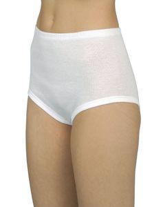 2er Pack Damen Taillenslip weiß ohne Seitennähte, Größe:48/50, Farbe:weiss