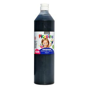 Piccolino Fingerfarbe Schwarz, 750 ml Flasche