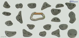 Klettergriffe Jump XS - Move-it-Climbingholds, Farbe:sand