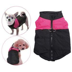 Gepolsterte hunde weste reiß verschluss hunde jacke mantel winter kleidung mit Farbe Pink_XS