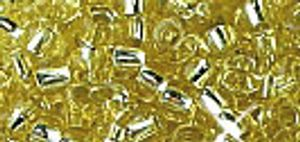 Miyuki-Rocailles, 2,2mm, 12g silverlined gold