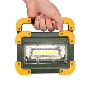30W USB COB LED Akku Fluter Strahler Handlampe Arbeitsleuchte Baustrahler Arbeitsscheinwerfer