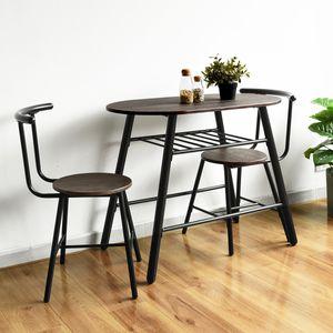 Esstisch im Industriestil, ein Esstisch + zwei Stühle