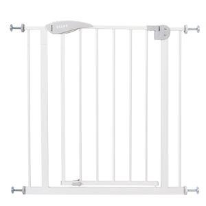 Treppenschutzgitter Türschutzgitter Türgitter Treppen Absperrgitter ohne Bohren, Farbe:Weisses Gitter ohne Verlängerung