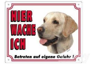 Warntafel Labrador hell 250 x 200 mm | Lieferumfang: 5 Packungen/Einheiten
