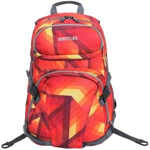 """BESTLIFE Unisex Rucksack """"MERX"""" Schultasche Freizeittasche mit Laptopfach bis 15,6 Zoll (39,6cm), rot/orange"""