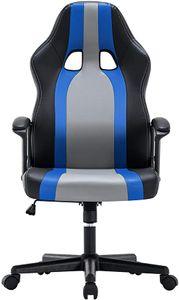 IntimaTe WM Heart Ergonomischer Gaming Stuhl, Hochverstellbarer Computerstuhl, Bürostuhl aus Kunstleder 360 Grad drehbar, Schreibtischstuhl 150kg Belastbarkeit (Blau)