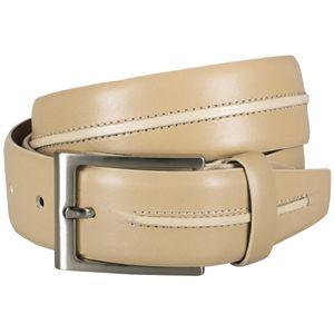 LINDENMANN G.CHABROLLE Gürtel Herren Vollledergürtel aus Vollrindleder, 35 mm breit und 3,8 mm stark, kürzbar, Gürtel, Ledergürtel, Anzug-Gürtel, beige, Größe / Size:110, Farbe / Color:beige