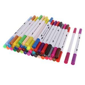 48 Farbe Farbmarker Textil Acrylstifte Marker Stifte Filzstift Folienstift für Kartenherstellung DIY