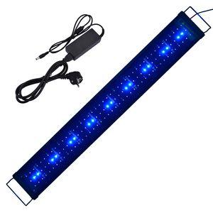 90-110cm LED Aquarien Beleuchtung mit Timer Aquarium Lampe Aquariumleuchte Aufsatzleuchte Pflanzen Weiß/Blau