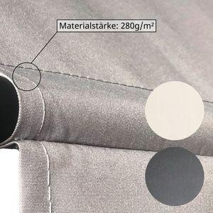 SVITA Klemmmarkise 300x120cm 280g/m² Balkonmarkise Sonnenschutz Markise Dunkelgrau Anthrazit