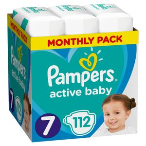 Pampers Active Baby Dry, Größe 7, 112 Windeln