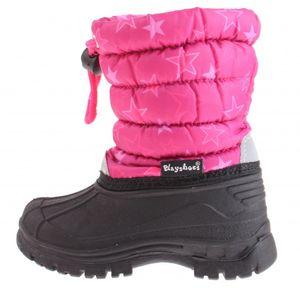 Playshoes schneestiefel Winter Bootie Stars rosa/schwarz