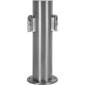 Steckdosensäule 2 Steckdosen Gartensteckdose Aussensteckdose Außensteckdose IP44