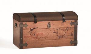 Cilek PIRATE Truhe Kiste Aufbewahrungstruhe Schatztruhe Braun