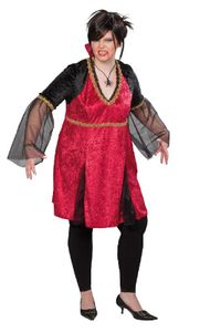 Halloween Kostüm Vampirin Draculina, Gr. 46