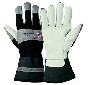 10 Paar KCL GIBOMECH Handschuhe beige/schwarz Arbeitshandschuhe Schutzhandschuhe, Größe:11