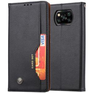 Xiaomi Poco X3 NFC Hülle, LaimTop Premium Klappetui Brieftasche Ledertasche Schutzhülle mit Kartenfach und Standfunktion für Xiaomi Poco X3 NFC Schwarz