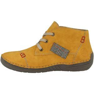 Rieker Damen Stiefeletten Boots Schnürung 52543-69, Größe:39 EU, Farbe:Gelb