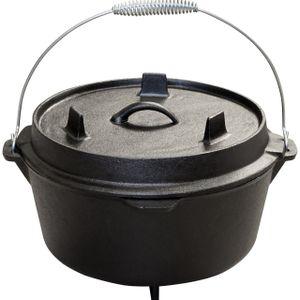 Dutch Oven 9 qt mit Füßen Schmor-Topf Feuertopf Gusseisen